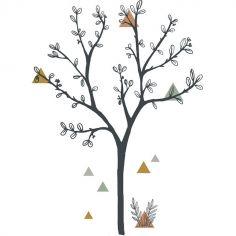 Grand sticker arbre et triangles (87 x 119 cm)