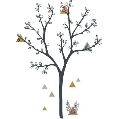 Grand sticker arbre et triangles (87 x 119 cm)  par Lilipinso