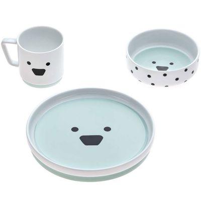 Coffret repas en porcelaine chien Little Chums (3 pièces)  par Lässig