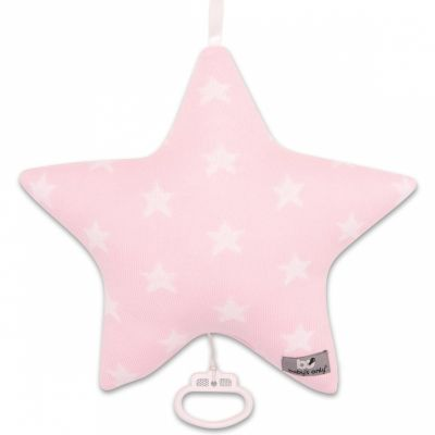 Coussin musical étoile Star rose et blanc (30 cm) Baby's Only