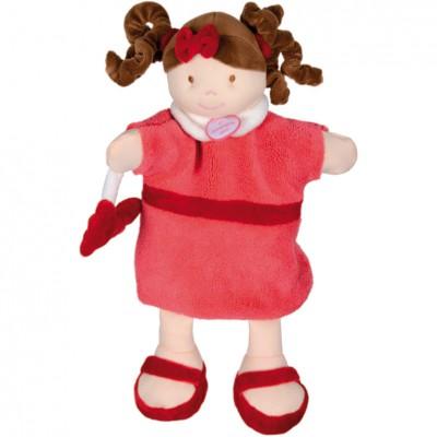 Marionnette Poupée framboise (30 cm) Doudou et Compagnie
