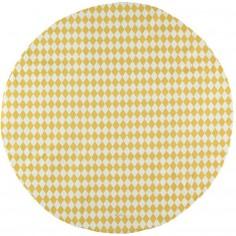 Tapis de parc Apache Losange jaune miel (105 cm)