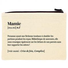 Pochette en coton bio Mamie