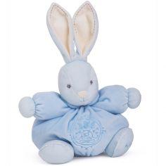 Coffret peluche Patapouf lapin bleu Perle (25 cm)
