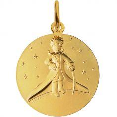 Médaille Le Petit prince dans les étoiles (or jaune 750°)