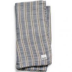 Lange en bambou et coton Sandy Stripe (80 x 80 cm)