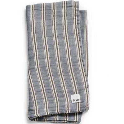 Lange en bambou et coton Sandy Stripe (80 x 80 cm)  par Elodie Details