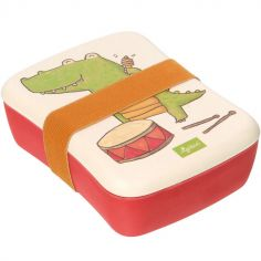 Lunch box en bambou crocodile