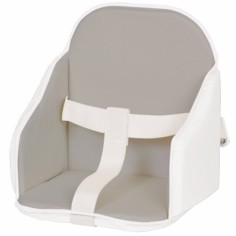 Coussin de chaise à sangles gris et blanc