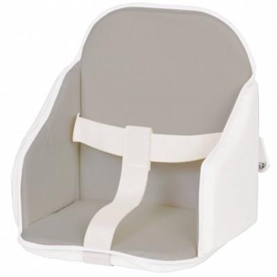 Coussin de chaise à sangles gris et blanc  par Candide