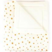 Couverture bébé Copenhagen Etoile jaune moutarde (70 x 80 cm) - Nobodinoz