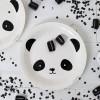 Assiettes en carton panda (12 pièces)  par A Little Lovely Company