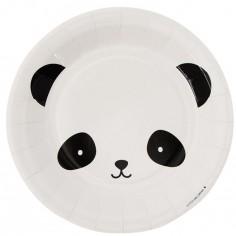 Assiettes en carton panda (12 pièces)