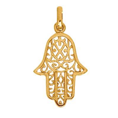 Pendentif main de fatma or jaune 750 par berceau magique bijoux - Bougie main de fatma ...