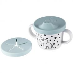 Tasse à bec 2 en 1 Happy Dots bleu (230 ml)