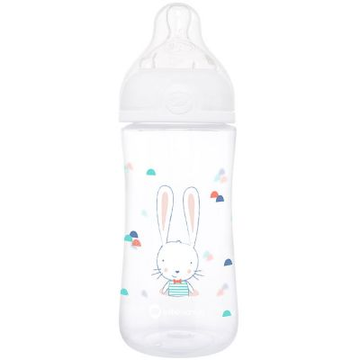 Biberon col large anti-colique emotion sweet bunny blanc (270 ml)  par Bébé Confort
