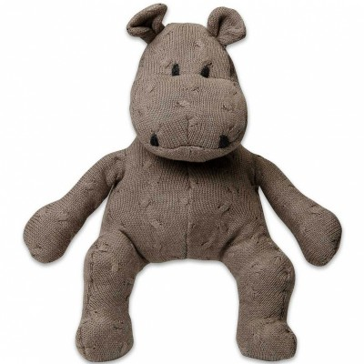 Peluche hippopotame Cable Uni taupe (35 cm) Baby's Only