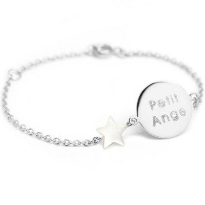 Bracelet Lovely nacre étoile (argent 925°)  par Petits trésors