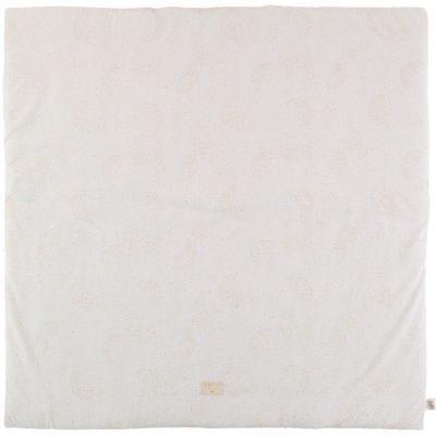 Tapis de parc Colorado coton bio Gold bubble White (100 x 100 cm)  par Nobodinoz