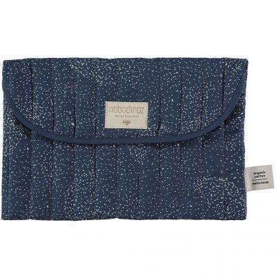 Pochette de change Bagatelle coton bio Gold bubble Night blue  par Nobodinoz