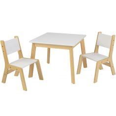 Ensemble table moderne et 2 chaises