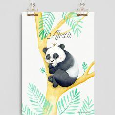 Affiche A4 Panda (personnalisable)