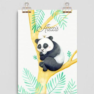 Affiche A4 Panda (personnalisable)  par Gaëlle Duval