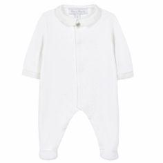 Pyjama léger blanc Linge d'antan (3 mois)