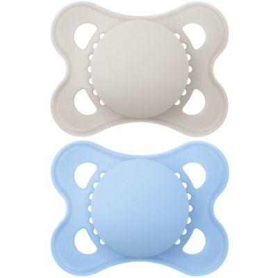 Lot de 2 sucettes Original Nature en silicone bleu et beige (2-6 mois) MAM