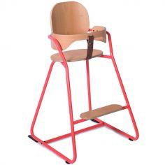 Chaise haute Tibu Bright corail avec ceinture