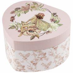 Boîte à bijoux musicale coeur Flower Fairies jasmin