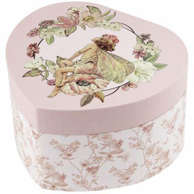 Boîte à bijoux musicale coeur Flower Fairies jasmin  par Trousselier