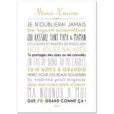 Carte Merci Nounou (15 x 21 cm)