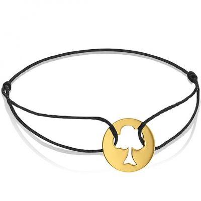 Bracelet cordon enfant Arbre de Vie (or jaune 750°)