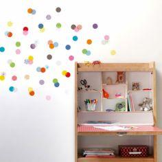 Stickers muraux 72 confettis
