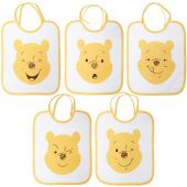 Bavoir à nouer Winnie l'ourson (lot de 5) - Babycalin