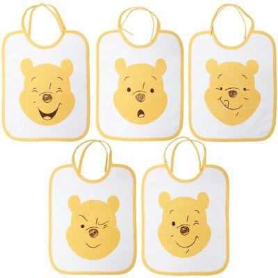 Bavoir à nouer Winnie l'ourson (lot de 5)  par Babycalin
