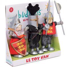 Lot de 3 figurines chevaliers des Croisades (9 cm)