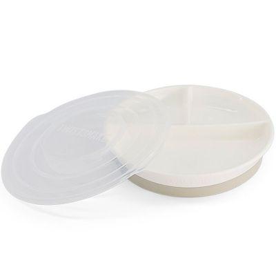 Assiette à compartiments blanche  par Twistshake