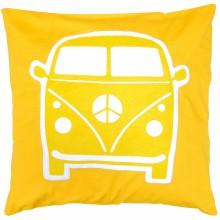 coussin carr little van jaune 40 x 40 cm taftan. Black Bedroom Furniture Sets. Home Design Ideas