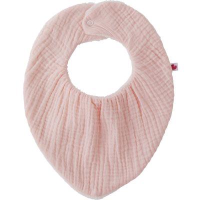 Bavoir bandana bambou réversible rose blush  par BB & Co