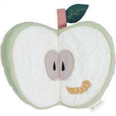 Livre bébé en coton bio pomme verte