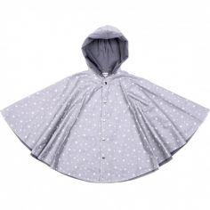 Cape de pluie gris étoile (2-5 ans)
