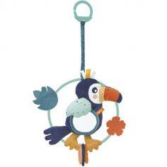 Peluche d'activités miroir à suspendre Alban le toucan