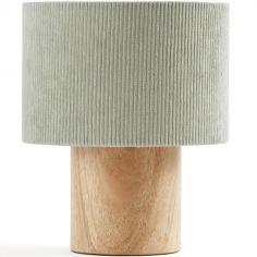 Lampe à poser velours côtelé vert