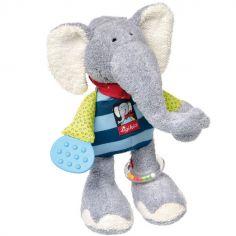 Peluche d'activités éléphant Lolo Lombardo (28 cm)