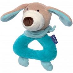 Hochet anneau chien pastel Blue