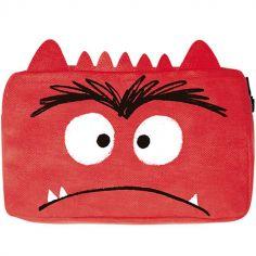 Trousse scolaire Monstre en colère rouge