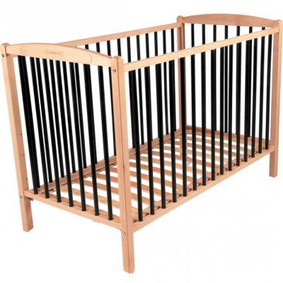 Lit à barreaux en bois Arthur Hybride noir (60 x 120 cm)  par Combelle