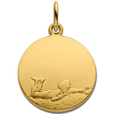 Médaille Le Petit Prince Couché dans l'herbe 18 mm (or jaune 750°)  par Monnaie de Paris